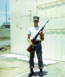 U. S. Marine Eskin C. Kuhn, with rifle, in Cuba