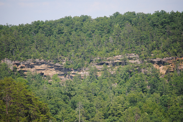 Rock formation in Daniel Boone National Forest in Kentucky
