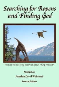 "Called the ""Bible of modern pterosaurs,"" this 353-page nonfiction book is titled ""Searching for Ropens and Finding God"""